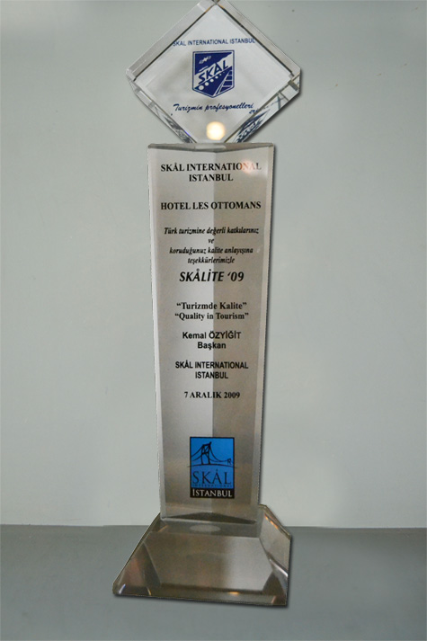 2009 - SKAL INTERNATIONAL ISTANBUL - SKALITE AWARD- BEST BOUTIQUE HOTEL